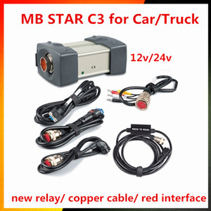 2017 A ++ Qualità MB Star C3 Set completo con 5 cavi Strumento di diagnostica automatica MB C3 senza HDD Star C3 Engine Analyzer per auto camion