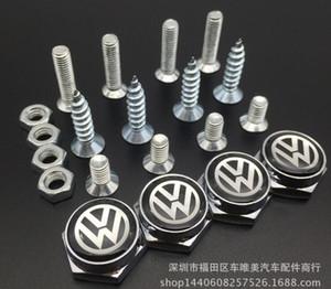 Styling GTI Kennzeichenschrauben Car Logo Kennzeichenrahmen Schrauben Universal für VW Golf Passat Bora CC Jetta Polo Tiguan Touran