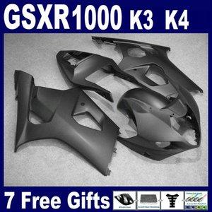 طقم أدوات لون أسود غير لامع لسوزوكي GSXR1000 2003 2004 K3