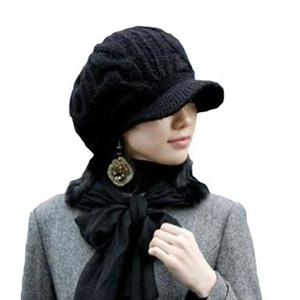 Al por mayor-Etang envío gratis hombres mujeres Slouchy patrón por cable Knit gorro de ganchillo costilla sombrero borde casquillo del vendedor de periódicos
