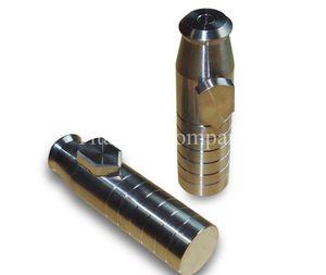 Pure Titanium Modern Snuff Bullets Cartuchos Caja Tabatiere Anatomique Sin lado-fuga 38.2g / pc