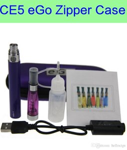 eGo CE5 colori Zipper ego caso sigaretta elettronica starter kit singolo CE4 CE5 più atomizzatore ego kit