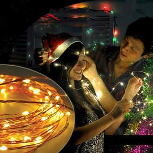 2M 3M 4M LED 배터리 문자열 5M 10M 미니 LED 구리 와이어 문자열 라이트 AA 배터리 운영 요정 파티 웨딩 점멸 LED 크리스마스 문자열