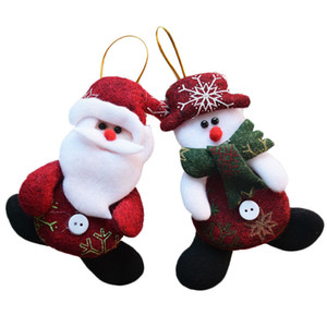 New Year Wholesale 24pcs  Lot Red Santa Pendant Christmas Tree Hanging Ornaments Crafts For Home Decor Supplies Sd206
