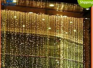 300 LEDs 3 M * 3 M 1000 LEDs 10 M * 3 M Luzes Da Corda Da Cortina Lâmpadas Do Jardim de Ano Novo de Natal Icicle Luzes LED Festa de Casamento de Xmas decorações