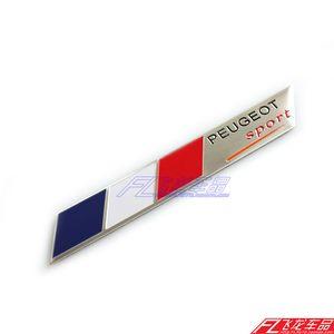 Araba Styling 3D Alüminyum PEUGEOT Araba Sticker 2010 2011 2012 2013 2014 için Peugeot 408 308 2008 3008 508 307 206 301