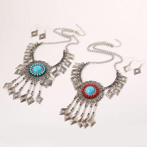 Set di gioielli etnici geometrici etnici