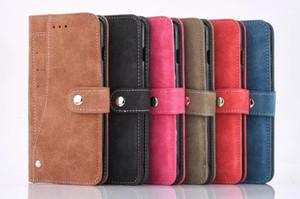 2018 Nouveau Titulaire de la Carte Titulaire Magnétique Flip Book Stand Stand De Luxe En Cuir Wallet Case pour iPhone 7 6 6 S Plus