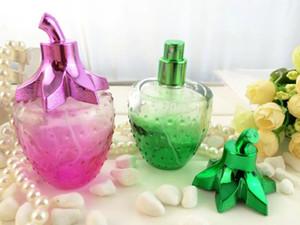 100pcs 100 botellas de perfume al por mayor vacías sub-embotellado 100ml fresa botella de perfume de cristal, venta caliente ml de pulverización de vidrio dedicada
