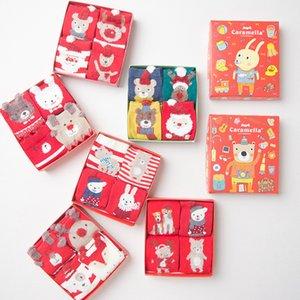 Зимние теплые носки для детей милый рождественский мультфильм трубки носок для подарка хлопка сделал высокое качество Детские носки