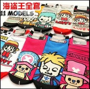 Toptan Satış - (12 çift / grup) Kadınlar One Piece Karikatür Çorap Terlik Pamuk Sıcak Yumuşak Spor Çorap