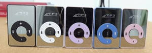 Mini Clip Spiegel MP3 Digital Music Player mit Micro SD TF Kartensteckplatz C Form Sport MP3 Kostenloser Versand