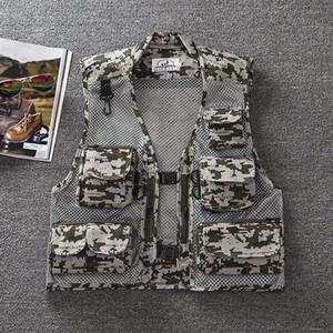 5 Couleurs Hommes En Plein Air Camouflage Militaire Gilet Tactique Mesh Chasse Tir Gilets Sans Manches Vestes pour Le Photographe Gilet