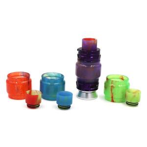 Resina tubo parti di ricambio Coperchio Solo tubo 4 colori scelta senza Drip Tip per il fumo del carro armato di trasporto