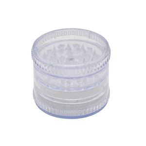 4 parti 60mm plastica Tabacco Spice Grinder Crusher Imposta fumatori colore casuale nuovissimo per Fumatori