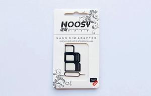 Adaptateur SIM Noosy Nano Sim Card Micro standard Slim 3 en 1 avec la carte SIM Pin pour tous téléphone portable appareils avec Retail Box US02