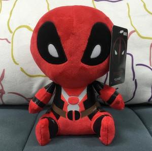 2016 Filmler Deadpool Peluş Oyuncaklar yumuşak bebek PP pamuk 20 cm 8 inç Deadpool Doldurulmuş Hayvanlar Bebek Oyuncakları EMS nakliye
