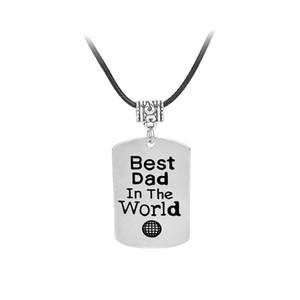 """2018 neue Brief Charm Anhänger Halskette """"Best Dad der Welt"""" Ketten Charme für Papa Familie Geschenk Anhänger Halskette für Frauen"""