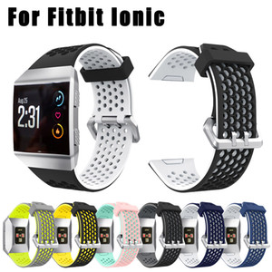 Новое прибытие 7 цветов Hotsale легкий вентилировать силиконовые перфорированные аксессуары спортивные полосы для Fitbit ионные SP28