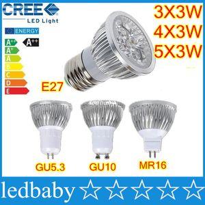 Hohe Leistung CREE LED-Lampen 9W 12W 15W Dimmbare GU10 MR16 E27 E14 GU5.3 B22 LED-Spot-Licht-Scheinwerfer-Lampe Beleuchtung