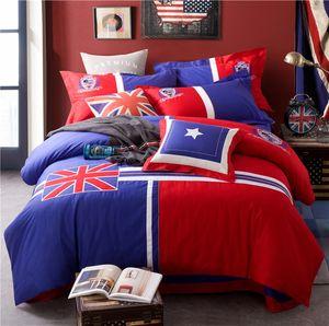 Puro algodão 4 peças bonito crianças conjunto de cama com fronha folha de cama colcha menina menino crianças cama