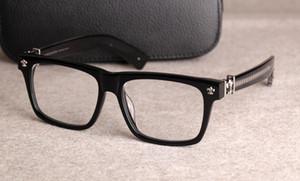 Новые очки кадры очки кадров Chrome очковых для мужчин Женщин Близорукости очки кадра прозрачных линз с первоначально случае 08
