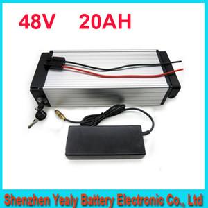 envío gratis 48 V 1000 W Bicicleta Eléctrica batería Litio ebike / equipaje batería 48 V 20Ah con BMS, 54.6 V 2A cargador