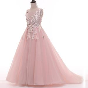 Nouvelle belle fille de fleur robes pour la fête de mariage robe daminha Alibaba Chine enfants robe d'anniversaire Pageant robes de fille