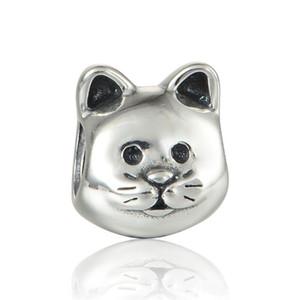 Animal cat encantos pet S925 plata esterlina encaja para pandora estilo encantos pulseras envío gratis LW553