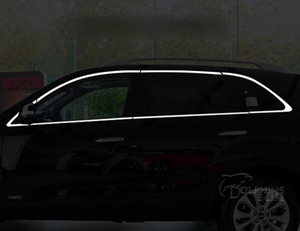 لكيا سورينتو 2009 2010 2011 2012 2013 2014 Chrome Covers Chromium Styling Car Full Window Trim Decoration Auto Accessories