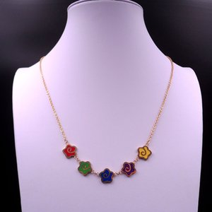 Mixed color NEW Women's necklace earring set stainless jewelry Lovely flowers charming charm