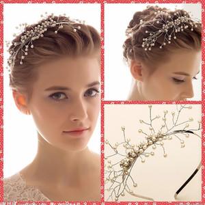 Encantadores accesorios nupciales del pelo de la boda perlas Hairbands Decortions nupcial del pelo nupcial Jewely Hair Band envío gratis