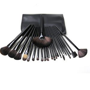 Free Shipping New Makeup Brushes M brand 24 Pieces Brush Sets With Leather Pouch in stock