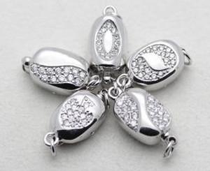 En gros belle perle bijoux accessoires collier de perles naturelles bracelet 925 pois en forme de boucle d'argent YPJ91