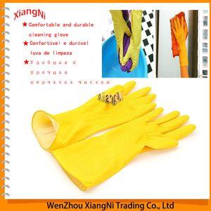 Guanti impermeabili in lattice per uso domestico nuovi e spessi, lavaggio per piatti puliti allungabile per lavanderia e per la pulizia della cucina