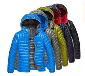 Chaqueta de compresión de moda de marca clásica para hombre-moda Deporte al aire libre conveniente llevar con capucha Mantener abrigado Abrigo suelto Chaqueta de plumón informal con capucha