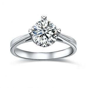 925 серебряные кольца 2carat Принцесса вырезать тонкой серебряной sona имитация Алмаз обещание обручальные кольца для женщин, 14 K белое золото покрытием кольцо