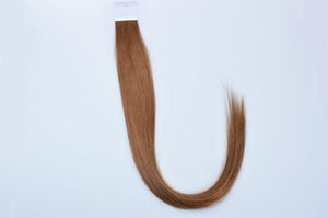 "Wholesale - 5A 16"" - 24"" 100% Human hair PU EMY Tape Skin Hair Extensions 2.5g pcs 40pcs&100g set #8 light brown DHL free"