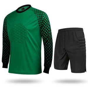 Мужской свитер трикотажные изделия футбол вратарь с длинным рукавом рубашки короткие брюки спортивные взрослых футбол Джерси футбол Trainning одежда