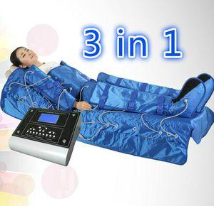 Casa salão de beleza 3 em 1 Equipamentos de Massagem Drenagem Linfática Sauna Infravermelho Distante Para Emagrecimento Envoltório Do Corpo Cobertor de emagrecimento máquina de terno de massagem