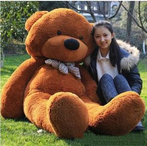 "novo 6.3 FEET TEDDY urso de pelúcia LUZ BROWN GIANT JUMBO 72"" tamanho: 160 centímetros de presente de aniversário"