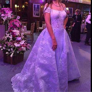 2021 Estate Abiti arabo spettacolo Abiti Pizzo Perline di sfera degli abiti di sera promenade Beauty Queen Dress
