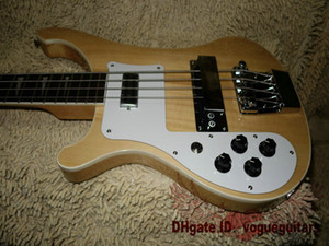 New Arrival Left Hand Guitar Natural 4003 4 Strings Electric Bass Free Shipping.