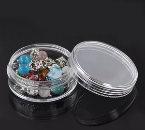 """Wholesale- Clear Round Plastic Home Storage Bottles And Jars  Display Container Storage Boxes 8PCs 5x5x2.1cm(2""""x2""""x7/8"""")"""