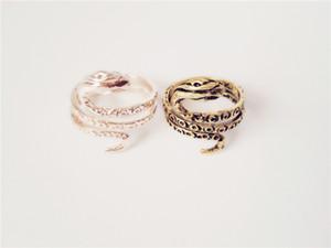Anéis de serpente faraó egípcio antiga moda para mulheres Anéis de banhado a ouro antigo estilo Vintage banhado a prata / Antique