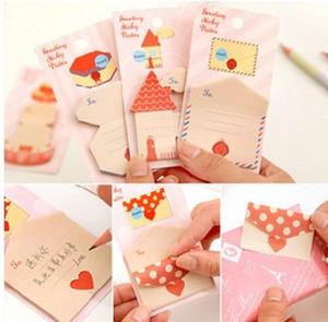 Frete Grátis / Novo bonito Envelope forma pegajosa / Notepad / nota pegajosa Memo / mensagem pós / Atacado