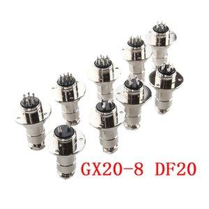5 set GX20-8 8 pin con flangia maschio femmina 20mm pannello connettore DF20 circolare saldatura aviation presa presa aria connettore