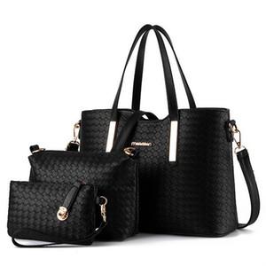 3 pcs 2015 Nova Moda das Mulheres Bolsa Bolsa Bolsas de Couro PU Bolsas de Ombro Meninas Barato Designer de Bolsas de Mensageiro Totes 7 Cores