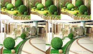 8 Inç '20 cm Çapı Yapay Yeşil Plastik Çim Topu Asılı Öpüşme Topları Zanaat Malzemeleri Ev Bahçe Düğün Centerpieces Dekorasyon Için