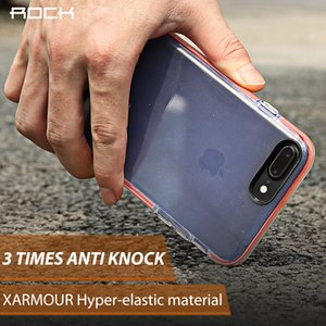 Rock Anti Knock Case para Iphone 8 7 Guard Series Soft Tpu + Tpe Drop Protection teléfono Shell para Iphone 7 Plus 8 Plus